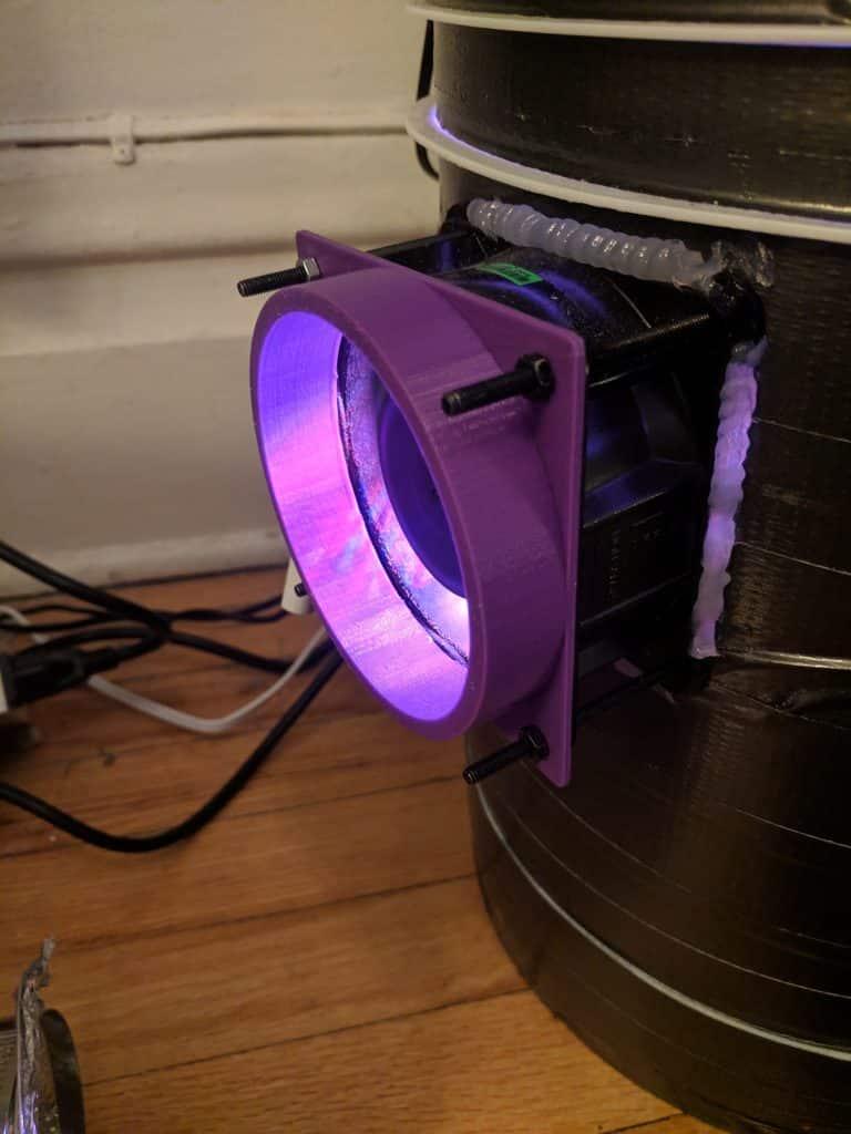 Adaptateur de ventilateur imprimé en 3D
