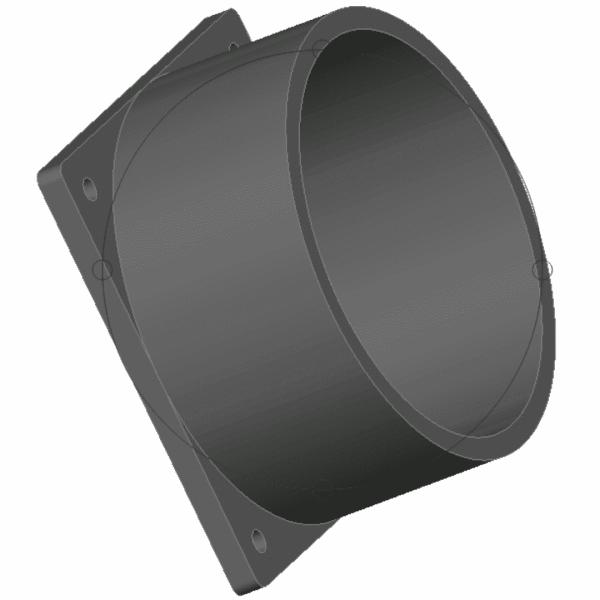 Rendu 3d de l'adaptateur de ventilateur Spacebucket