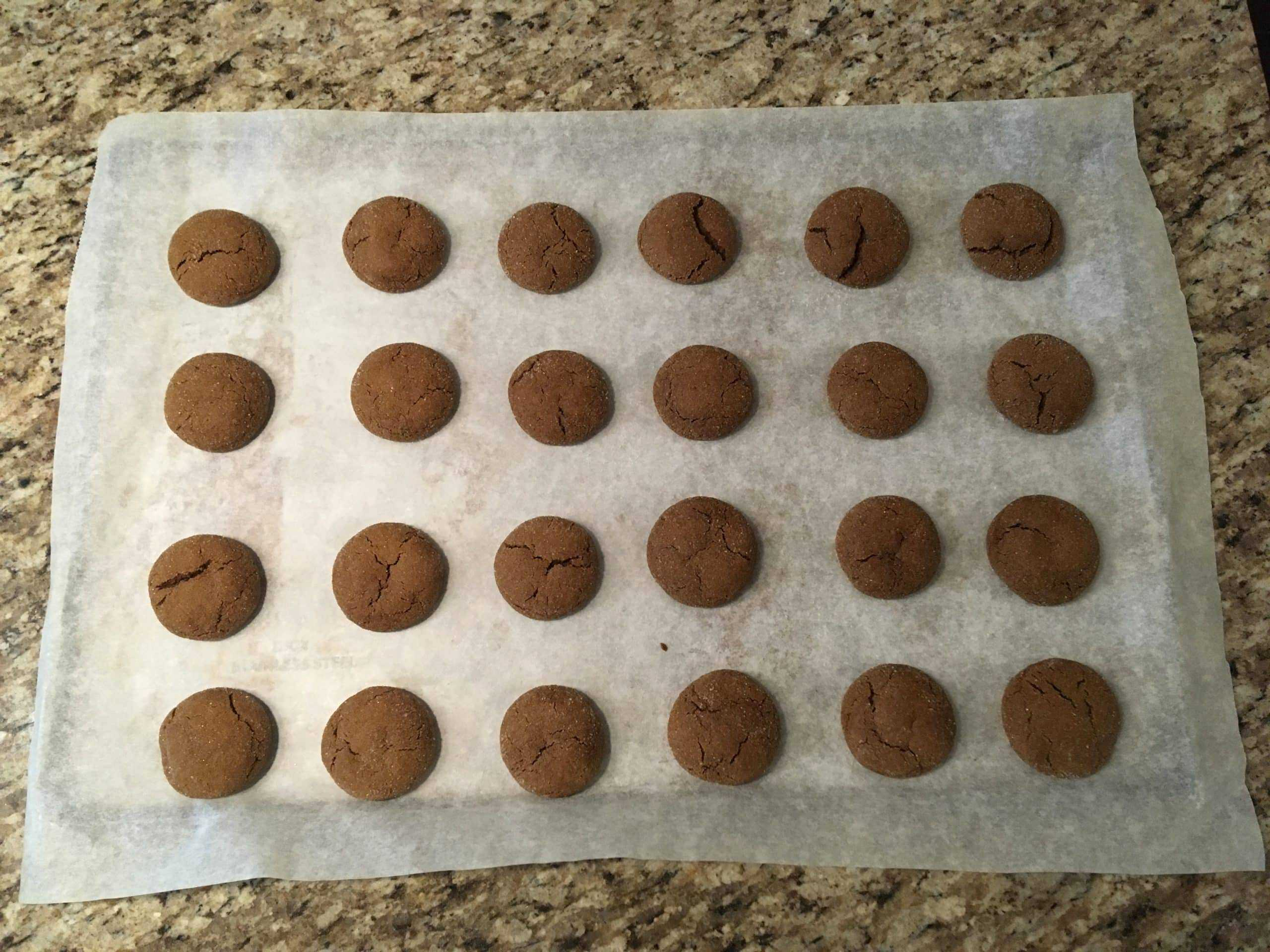 Baked cannabis molasses cookies