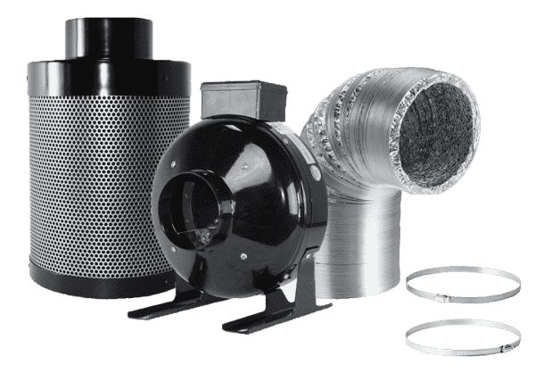 Cannabis carbon filter and fan kit